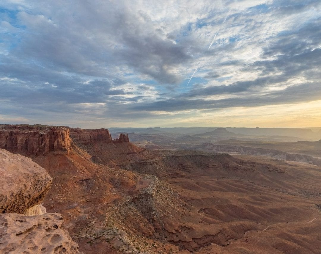 Grand View Point Overlook Sunset, Canyonlands