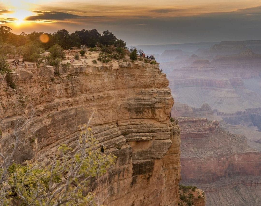 Sunset at south rim grand canyon