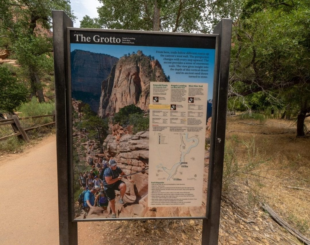 The Grotto, Angels Landing Trail, Zion National Park