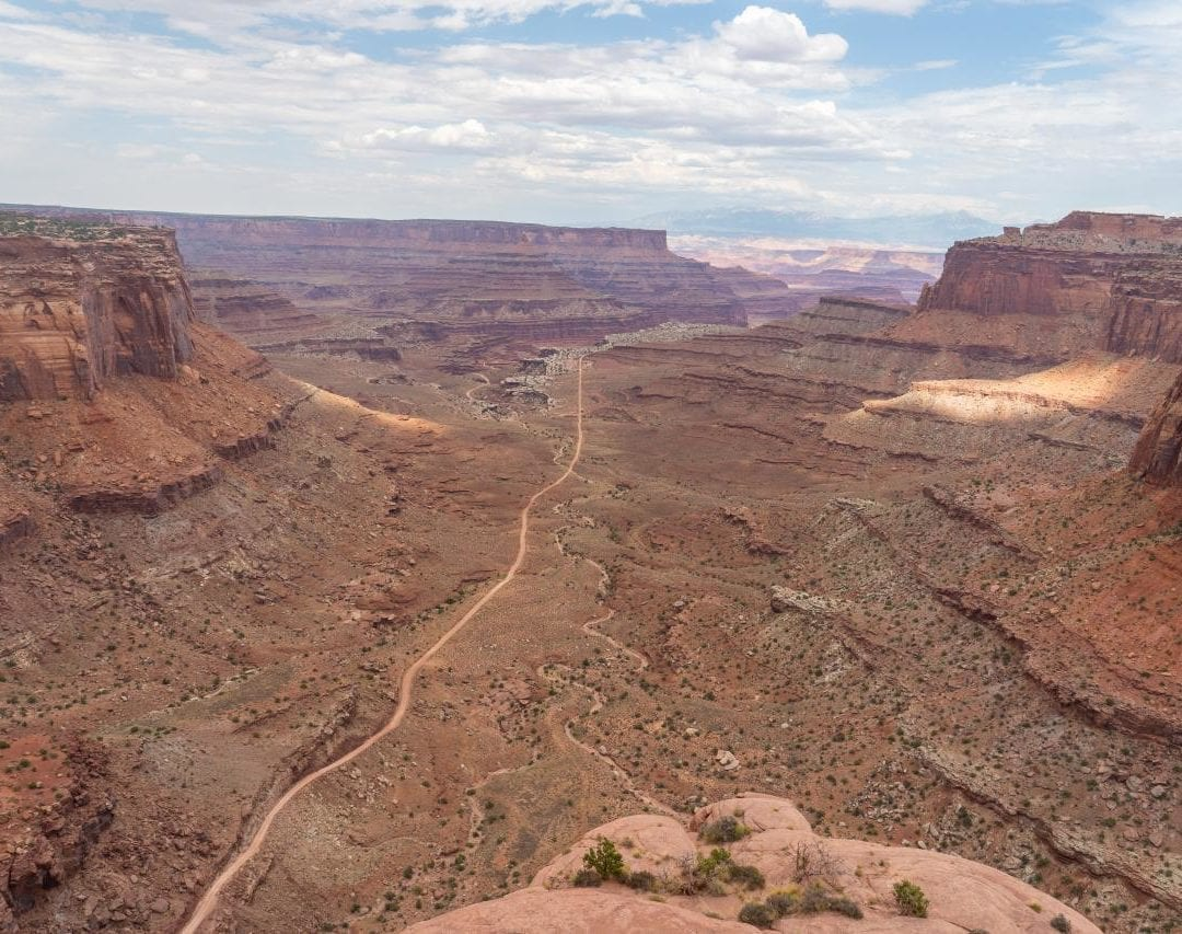 View of canyonlands from shafer trail