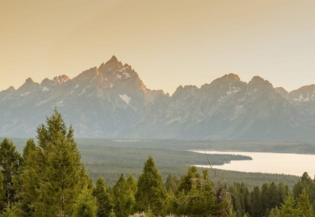 View of Tetons from Signal Mountain at Sunset: Top Things to do in Jackson Hole, Wyoming & Grand Teton National Park