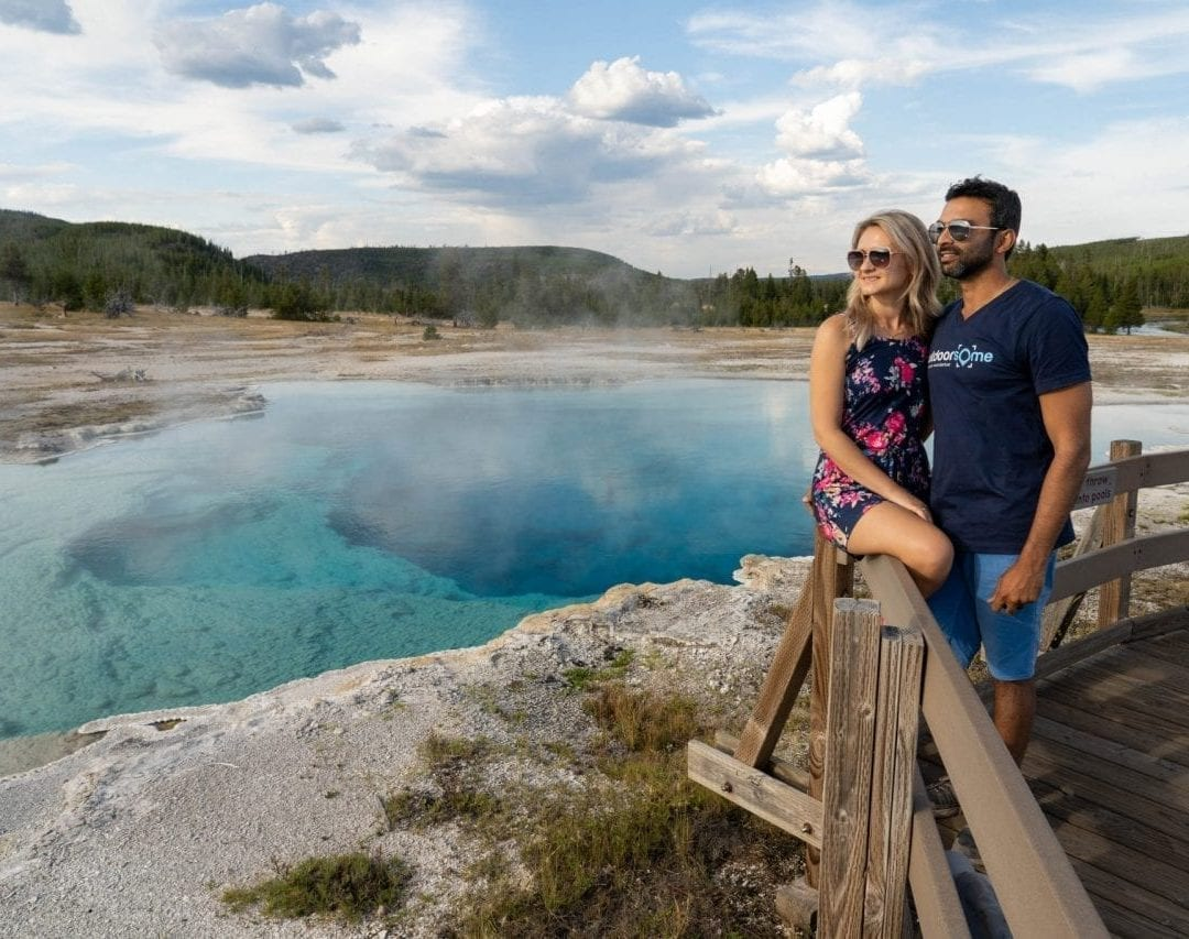 Sapphire Pool on the way to Mystic Falls Trailhead (Pin #2 on Yellowstone National Park Map above)