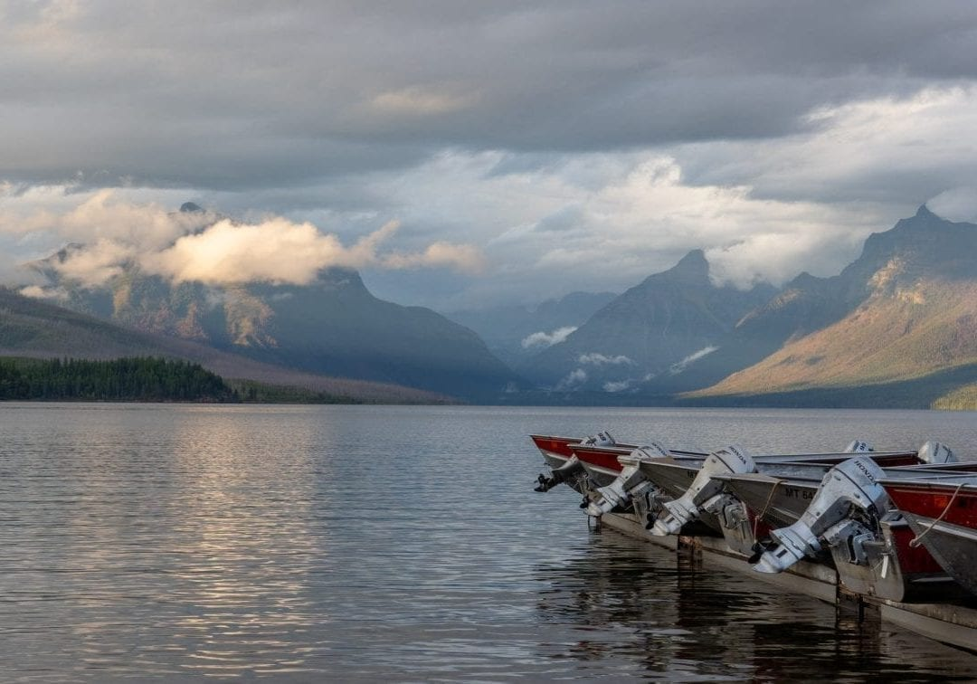 Lake McDonald boating, glacier national park