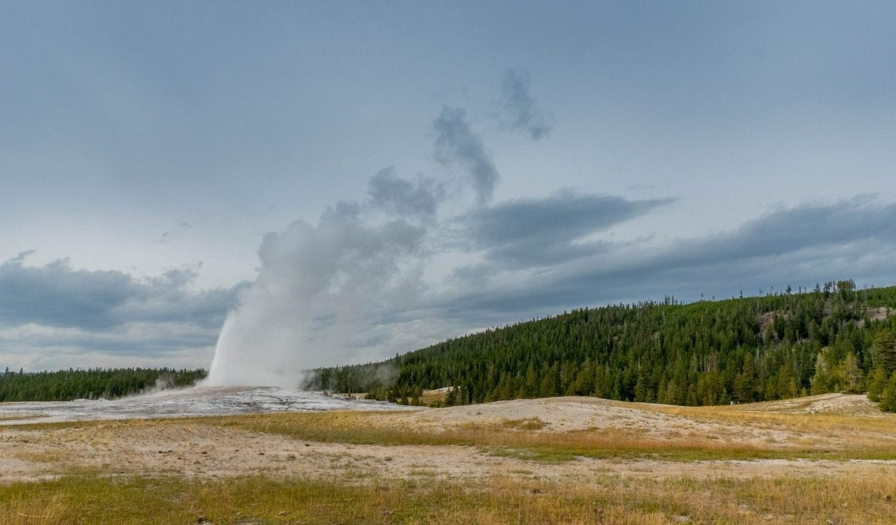 Old Faithful Geyser in Lower Basin Yellowstone