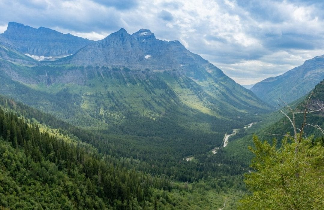 Spectacular views from Going to the sun road, Glacier National Park