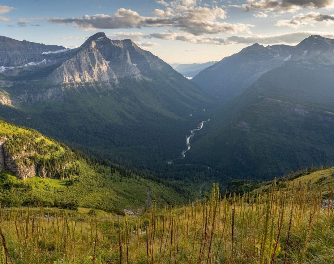 View along the highline trail, glacier national park